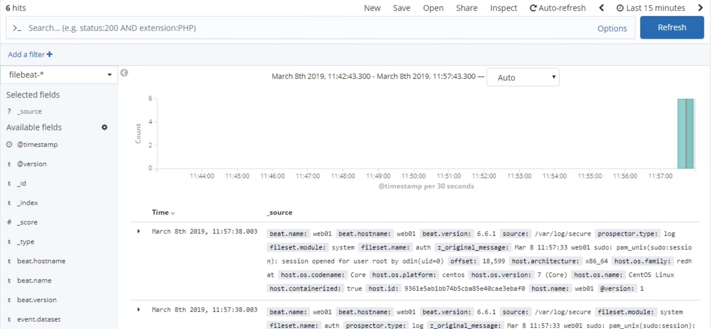 Monitoring CentOS Endpoints with Filebeat + ELK – Burnham